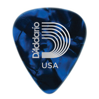 D'Addario Blue Pearl Celluloid Guitar Pick,  Medium
