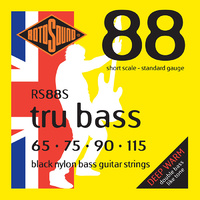 Rotosound Rs88S Tru Bass 88 Black Nylon Short Scale 65-115