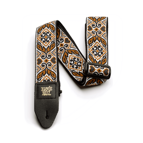 Strap Jacquard Tribal Brown Leather And Polypro 41-72