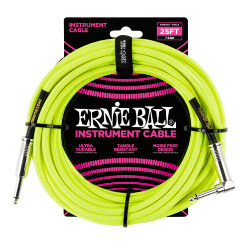 25 FT STRGHT/ANGLE BRAIDED NEON YELLOW BL