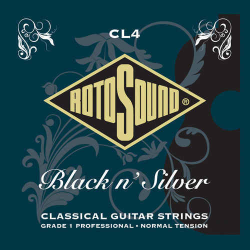 Rotosound Cl4 Black N Silver Classical String Set